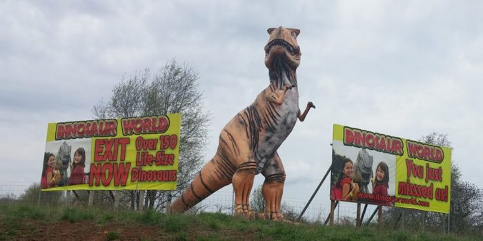 8. Dinosaur World at 711 Mammoth Cave Road in Cave City