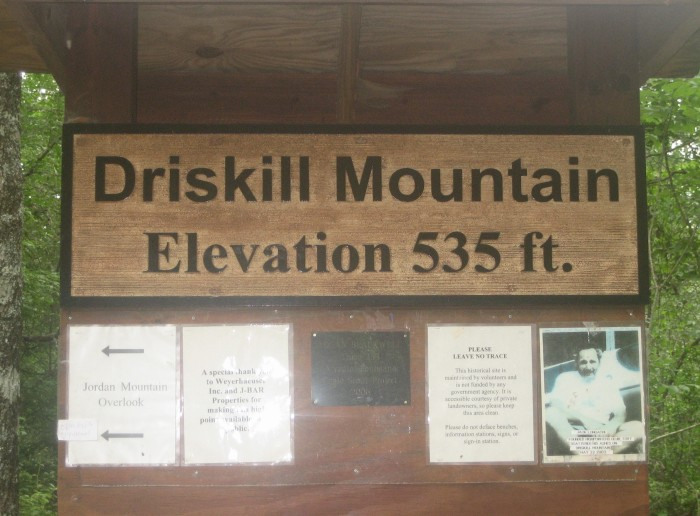 Driskill Mountain has an elevation of 535 feet, making it the highest natural summit in Louisiana.