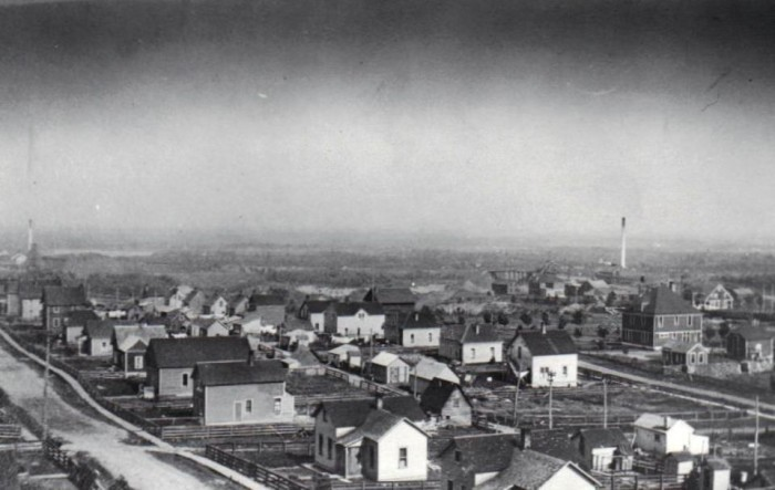 This area, that is now part of the city of Gilbert, was once its own unincorporated community with mining company housing.