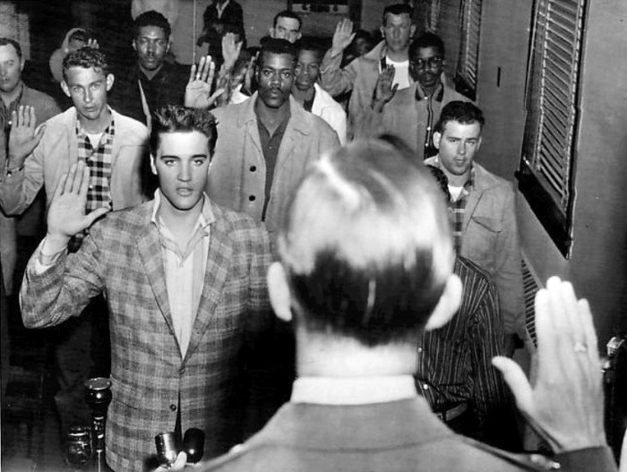 10.	Elvis was sworn into the army at Fort Chafee, near Fort Smith. He also famously had his hair cut there.