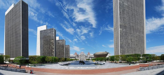 2. Capture our Capital and its unique, eye-catching architecture at the Empire State Plaza.