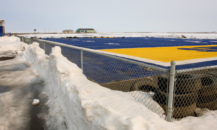 5. Snow on the ground – the show will go on. No crying in baseball (or football), Alaska kids.