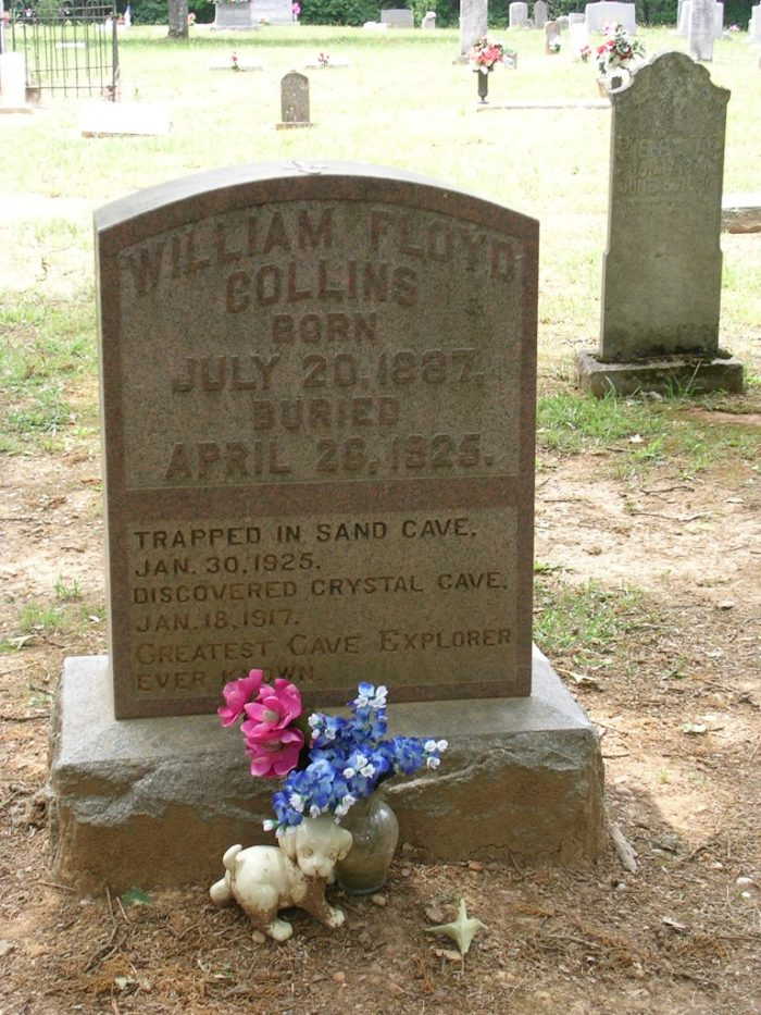 7. Floyd Collins Grave at Mammoth Cave Baptist Church Cemetery