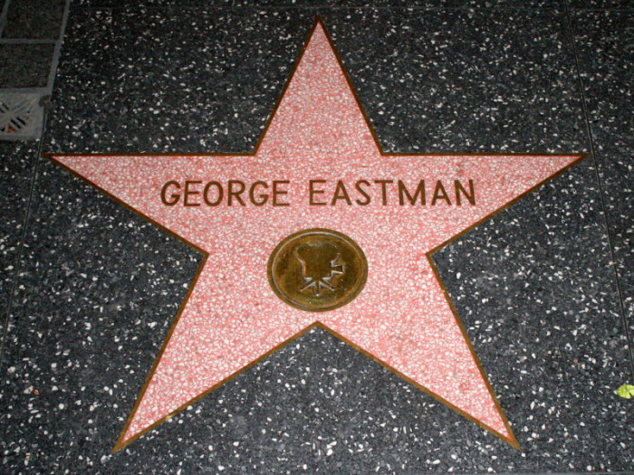 8. George Eastman earned not one, but two stars on the Hollywood Walk of Fame.