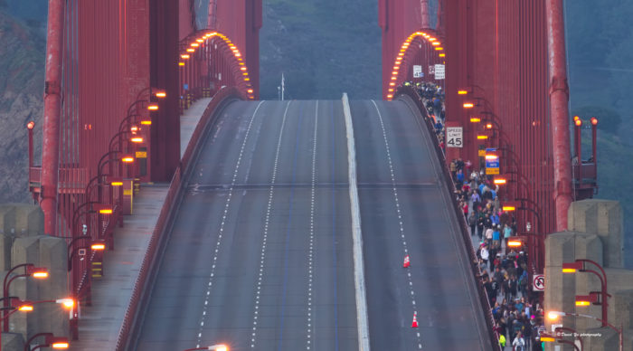 1. Walk or bike across the Golden Gate Bridge … then take the ferry back from Sausalito.