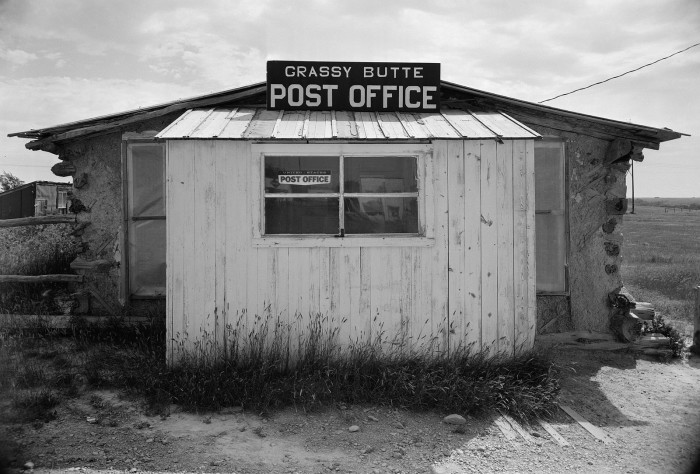 7. Post office in Grassy Butte, ND - 1958
