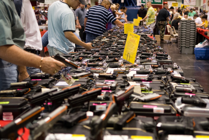 7. The gun laws here are quite relaxed.