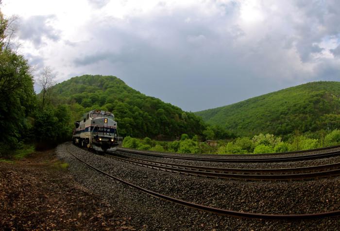 2. Horseshoe Curve National Historic Landmark & Amtrak Ride