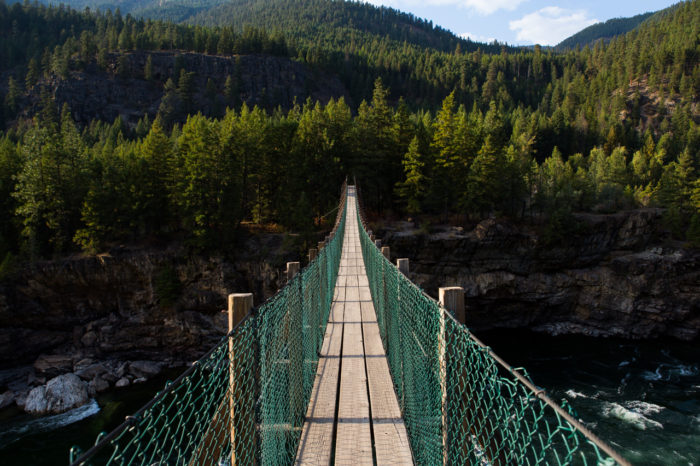 7. The swinging bridge over the Kootenai River
