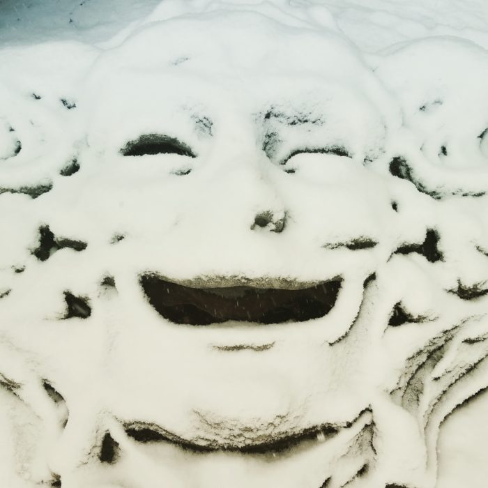 7. Amazing that someone actually snapped this photo of Old Man Winter laughing at some late April snow in Maine!