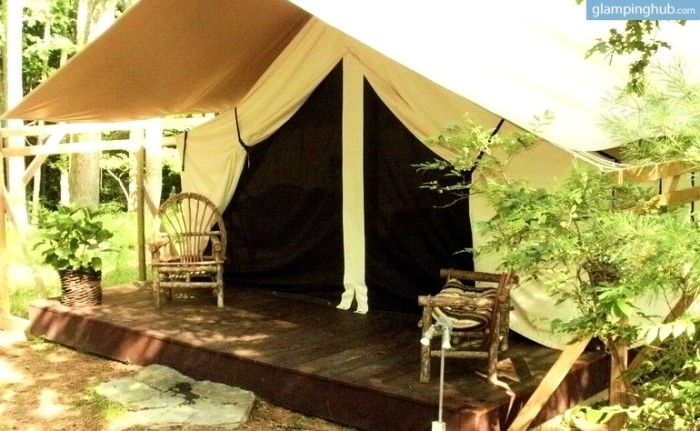4. Secluded Canvas Tent, Narrowsburg