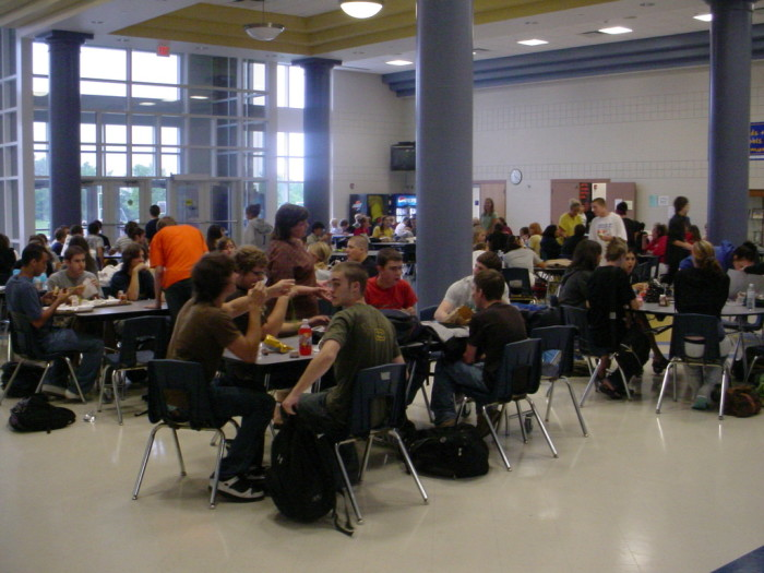 8. Nobody switches tables in the cafeteria.