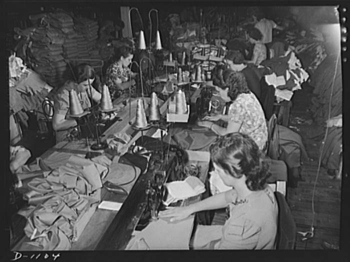 13. Kane Manufacturing made 1300 pairs of military trousers each day to support the war efforts in 1941.