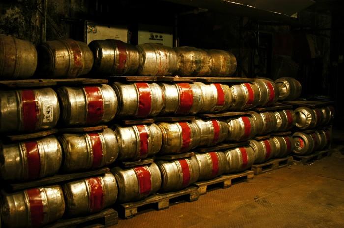 Old style kegs.