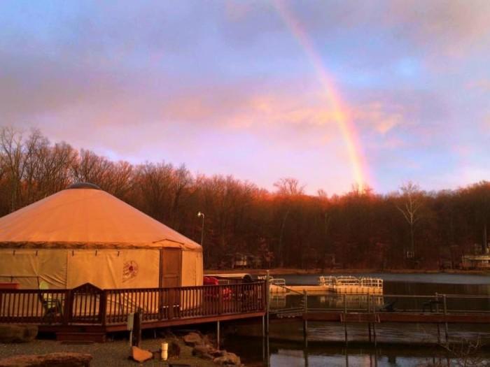 4. Lake In Wood Resort: The Yurt (Narvon)
