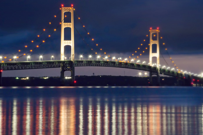 Mackinac Bridge night