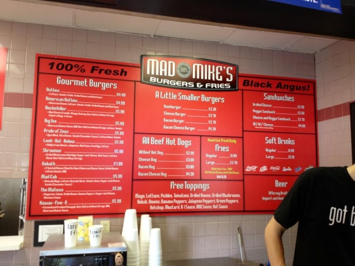 1. Mad Mike's Burgers and Fries at 6420 Dixie Highway in Florence