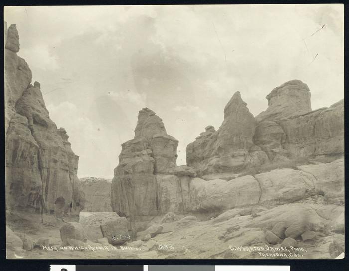 2. The mesa upon which Acoma Pueblo sits, circa 1900.