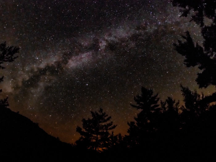 12. A celestial work of art, here you can see the Milky Way over our great state.