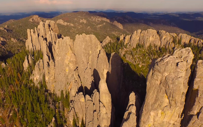 Even the Needles take on a majestic presence when seen from above.