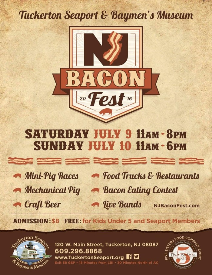 15. NJ BaconFest, Tuckerton Seaport