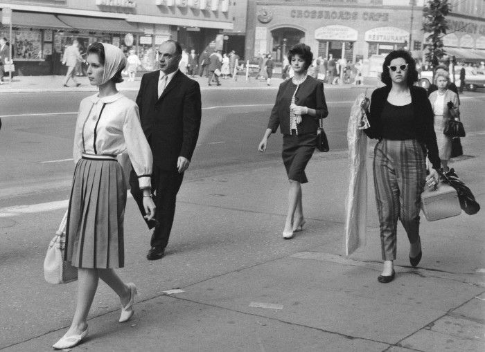 8. Displaying various styles of clothing, here you can see some of New York's fashion in 1959.