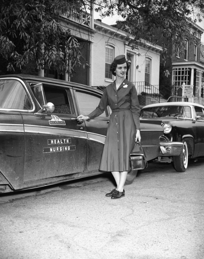 9. A nurse reporting for duty in Richmond (1961)