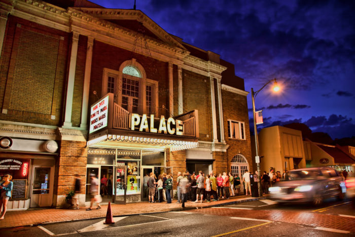 Not ready to go home just yet? Slow things down and enjoy a movie at the Palace Theatre.