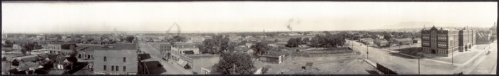 8. This panorama of Albuquerque was shot in 1915.