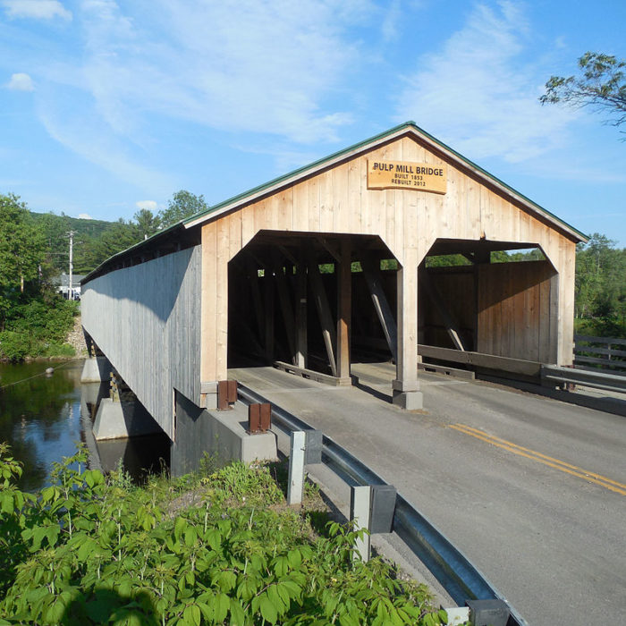 5.  Pulp Mill Covered Bridge, Middlebury