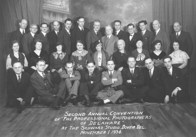 15. Thankfully, throughout our state's history, photographers, whether professional or amateur, have documented our progress.  Here's a photo taken in 1934 of the Second Annual Convention of the Professional Photographers of Delaware.