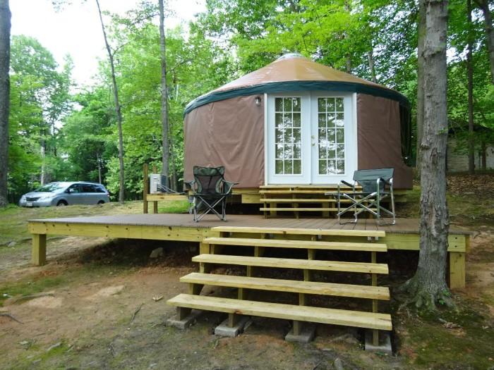 Raystown Yurt Exterior