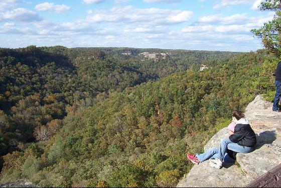 1. Red River Gorge, and other popular hiking and rock climbing areas