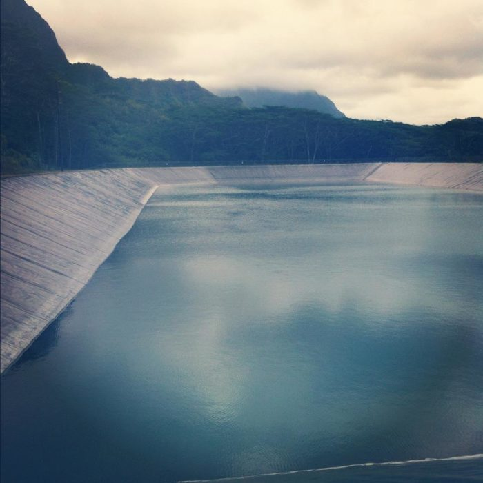 This activity is not actually legal – or even safe. The seams of the plastic tarp have been rumored to cut people, and unauthorized entry into the reservoir could leave you with a second-degree criminal trespassing charge, a petty misdemeanor in Hawaii.