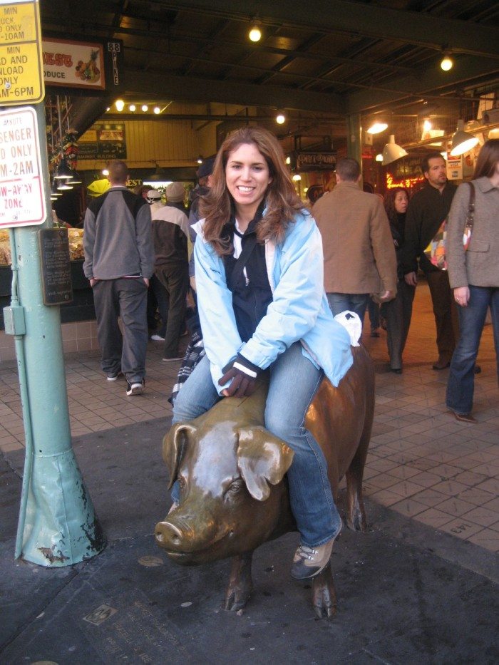 5. They're on the Pike Place Market pig…