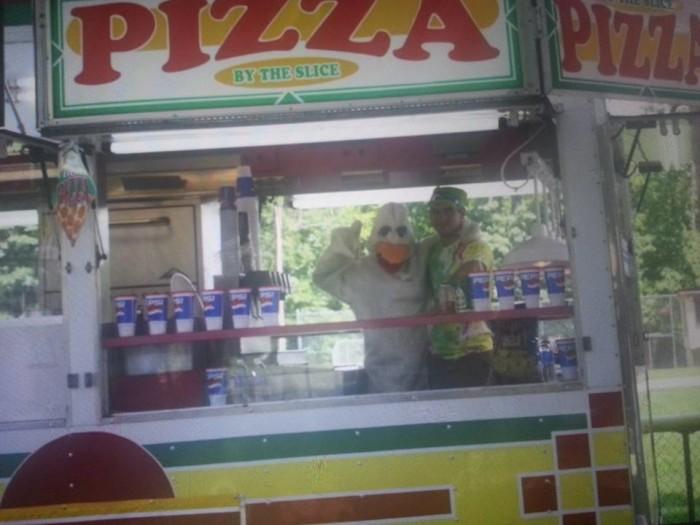 Ronceverte river festival pizza