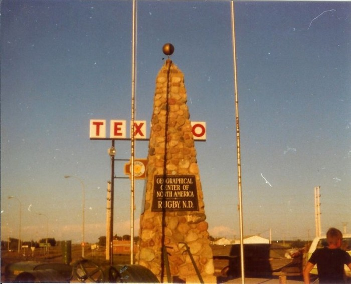 2. The obelisk in Rugby, ND marking the geographical center of north america - 1976
