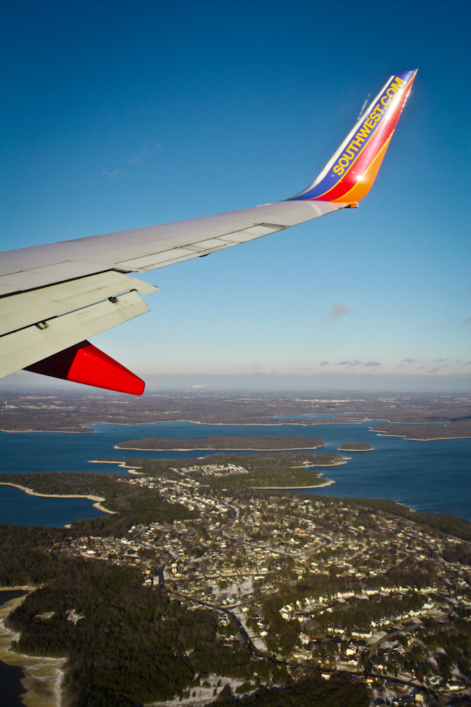 9. Another shot from the plane (thanks, Southwest!) that illustrates our watery southern wonderful.