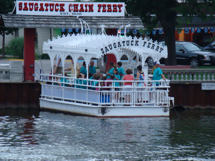 ...Where you can tour the Kalamazoo River on the Saugatuck Historic Chain Ferry.