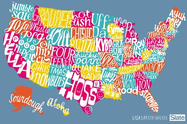 5. In this map of Slang in Every State, SD's slang word of choice is chislic. Who knew chislic was slang?