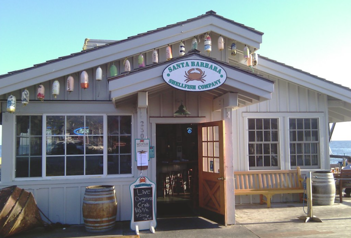 5. Santa Barbara Shellfish Company is a casual yet magical little spot on Stearn's Wharf. Specialities include spiny lobster and dungeness crab.