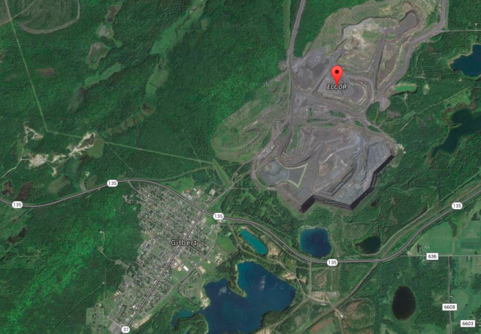 Now, the Minorca mine sits directly over the site.