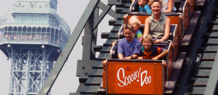 This Scooby Doo ride opened as an early preview in 1974.