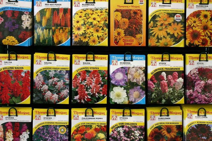 9. Organize seed packets in a cheap photo album. They'll fit perfectly in 4 x 6 slots.