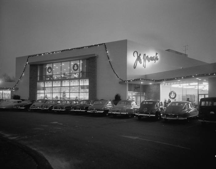 14. Captured in 1951, you can see one of Long Island's old shopping centers.