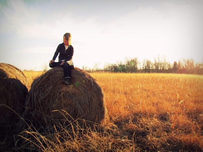 13. Fresh cut hay