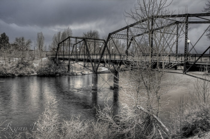 9. This Missoula area bridge definitely looks its best during the snowy season.