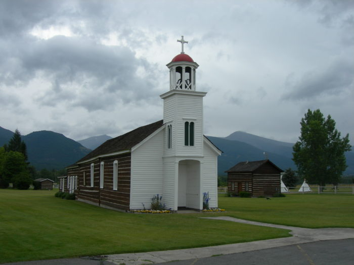 The next morning, after having breakfast at the Stevensville Hotel, check out the Historic St. Mary's Mission.
