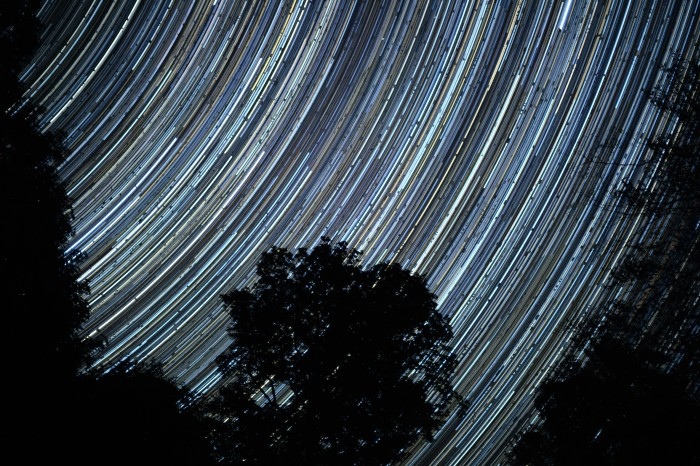10. We can't get enough of looking up! Captured here you see beautiful star trails over the Brown Tract Pond State Campground.