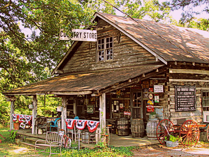 11. Stop by a country store.